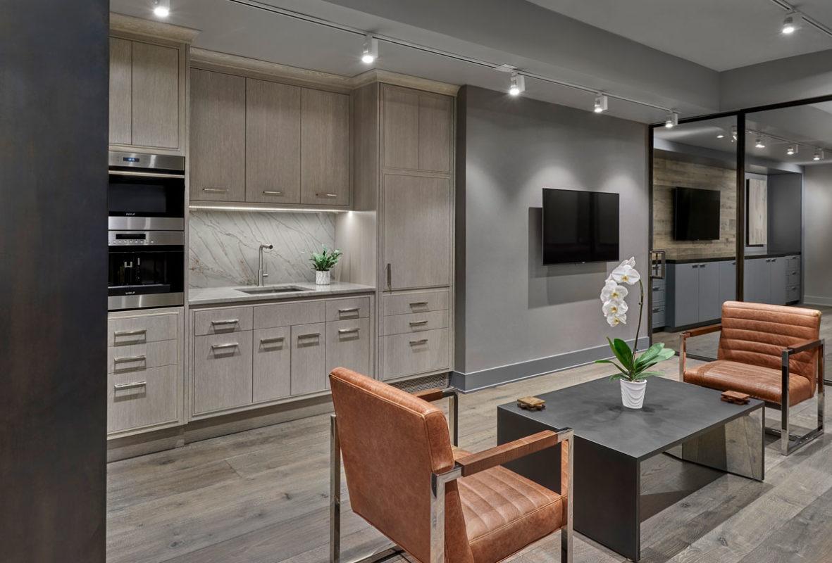 Tags: Apex Lab / chevron / city / French Oak / gray / kitchen / metal /  office / oil/showroom - Apex Wood Floors Showroom – Chicago – APEX WOOD FLOORS